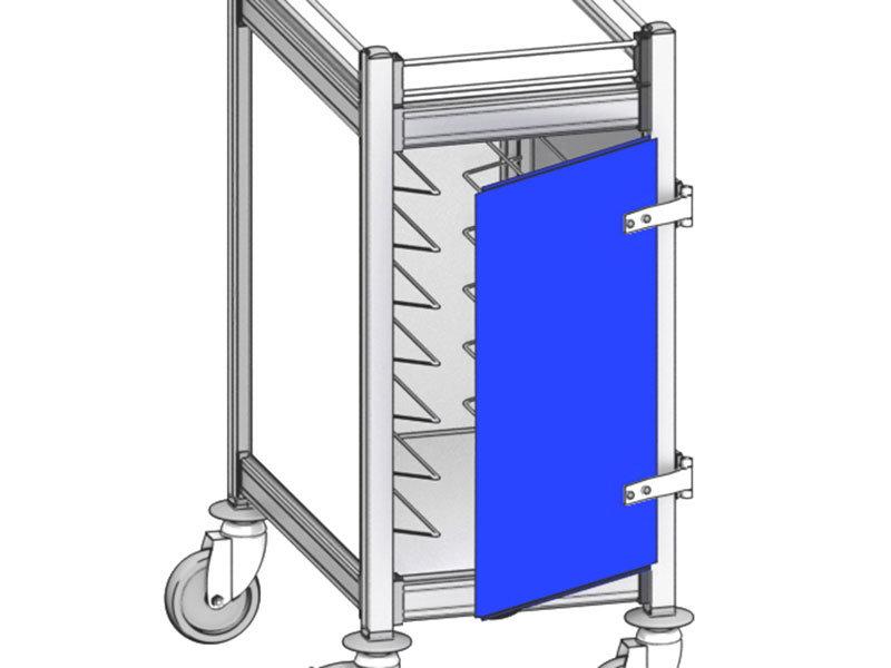 Porte pour chariot à 1 compartiment H950