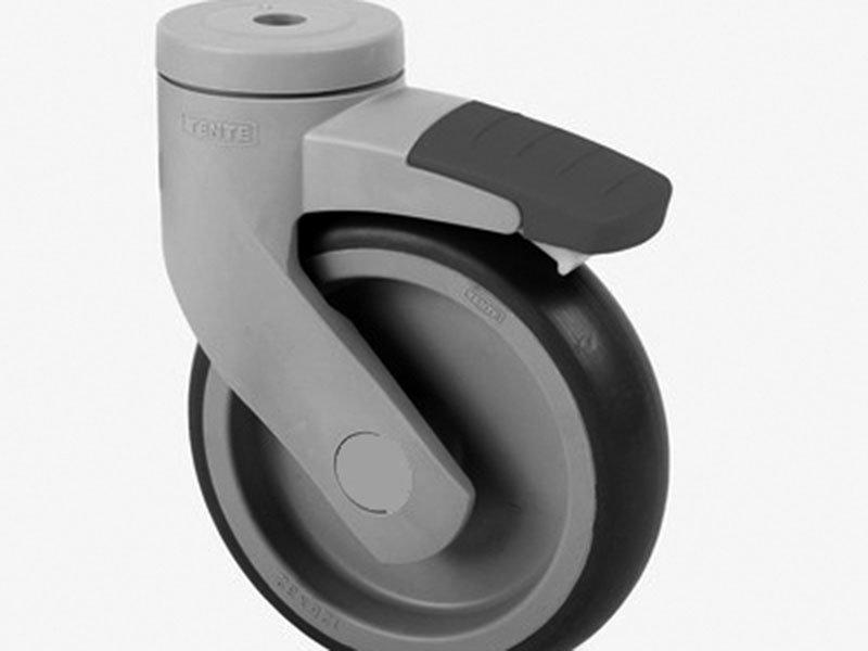 Resin wheel with brake