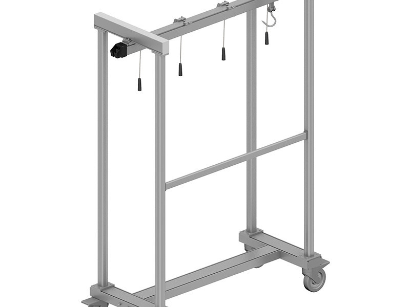 Quarter beef trolley with hooks