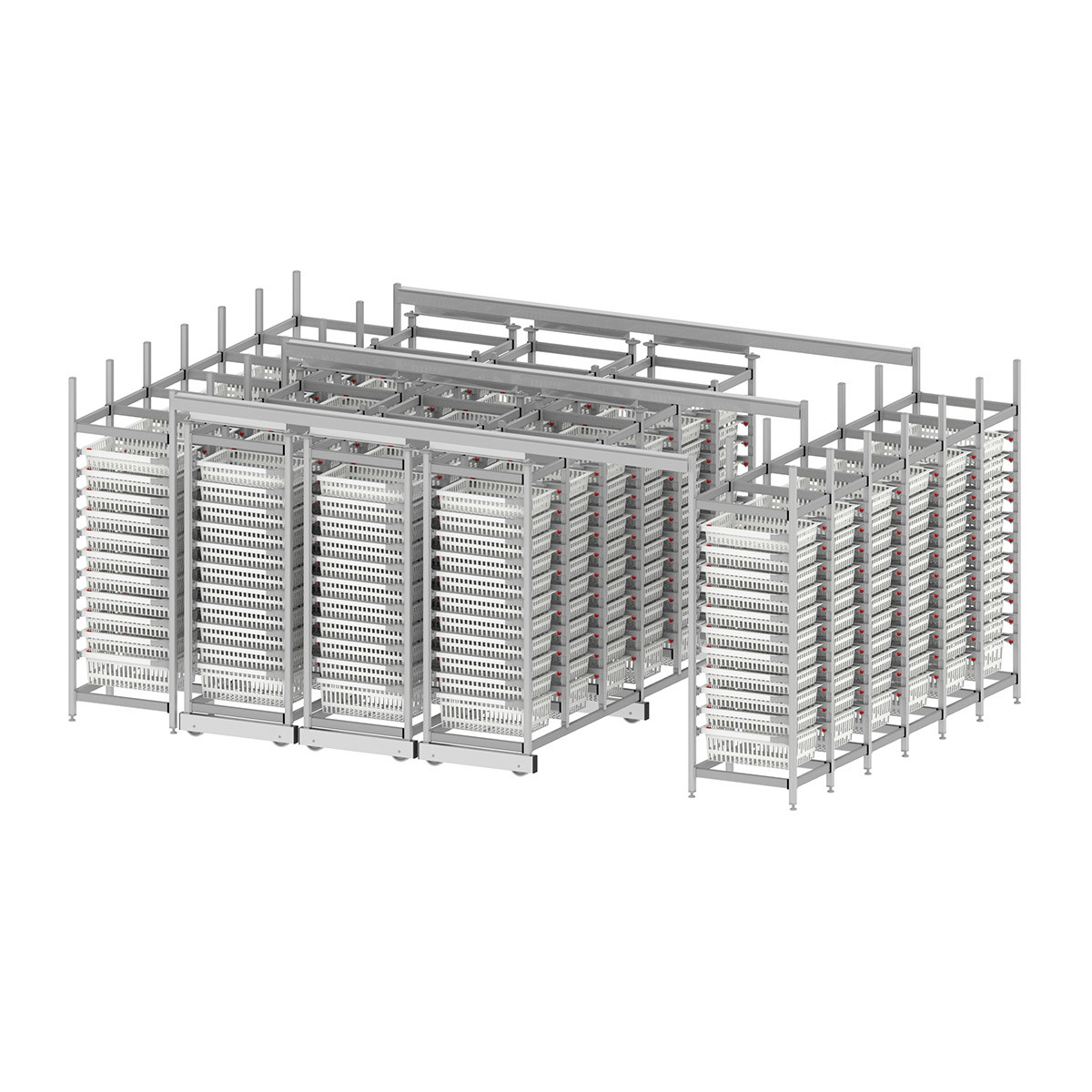 High density medical shelving