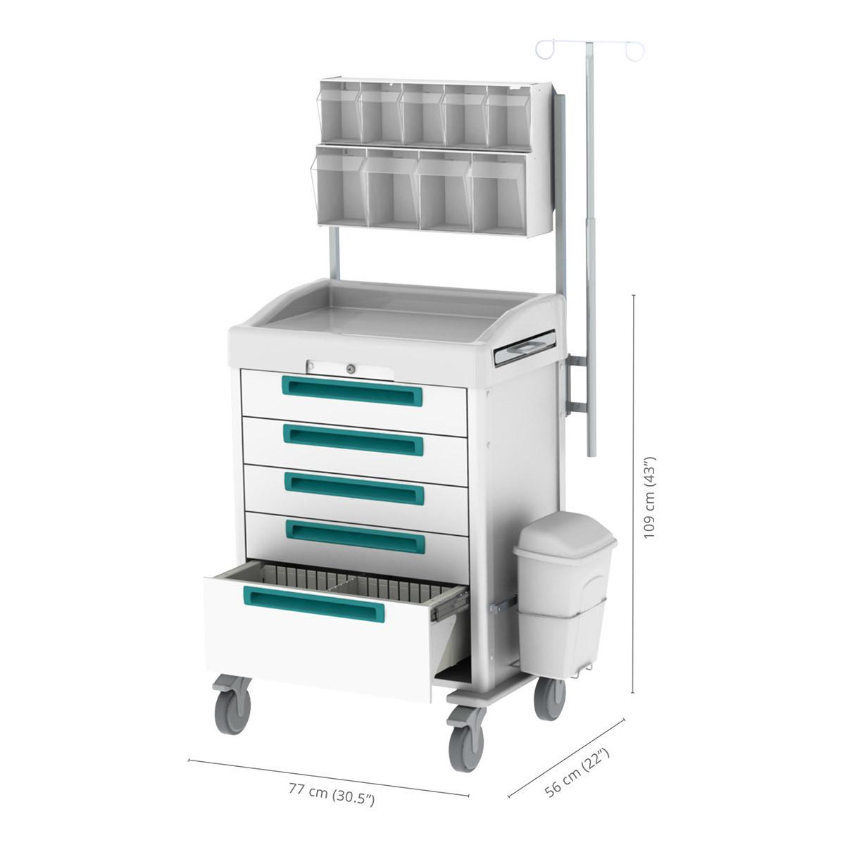 Premium anesthesia cart
