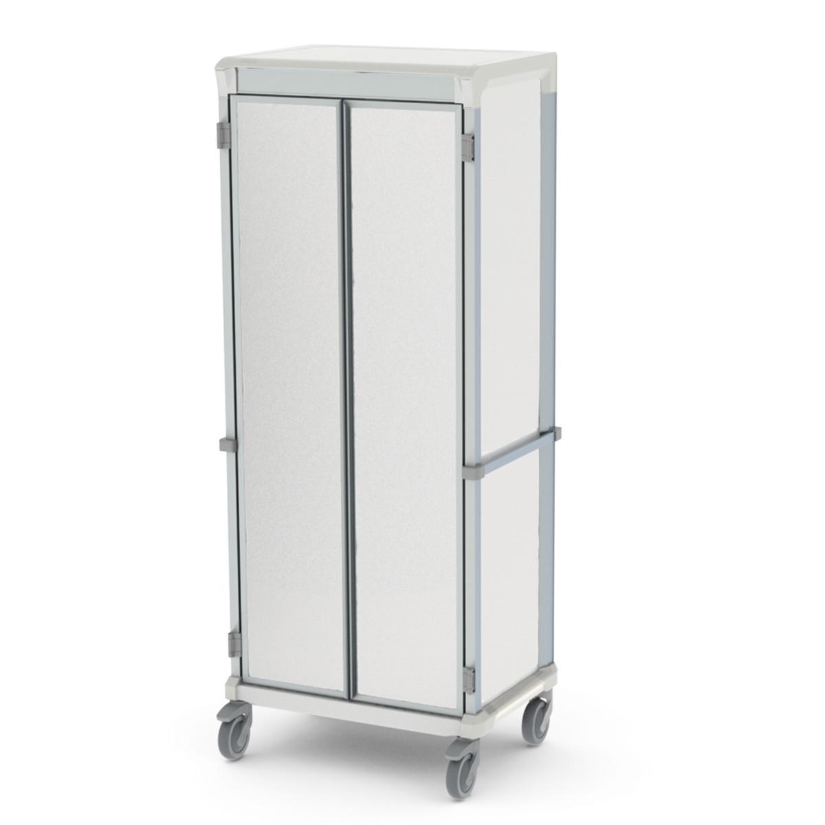 Storage medical cart solid door