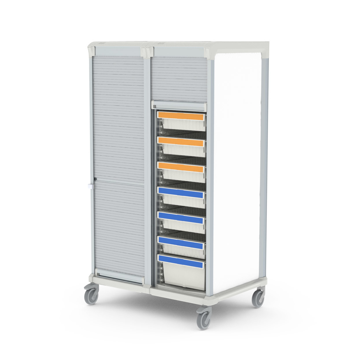 Storage medical cart