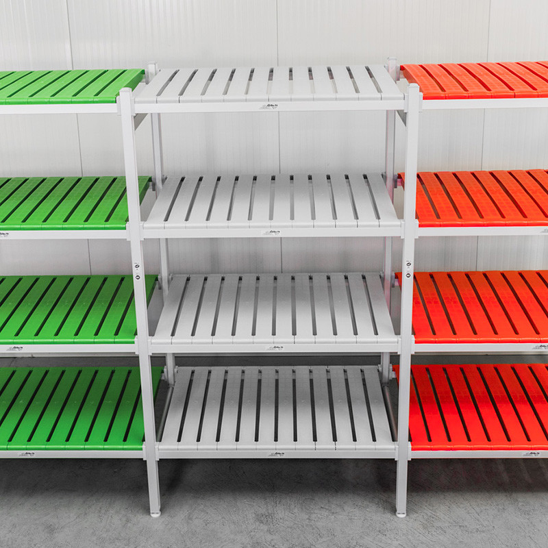 colored shelving
